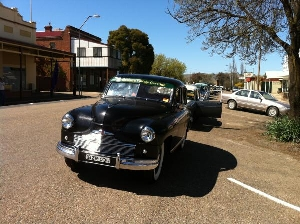 Street parade for the Gundagai Turning Wave Festival.